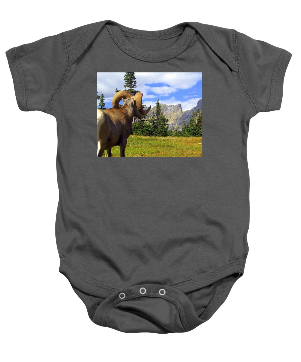 Glacier National Park Baby Onesie featuring the photograph My Kingdom by Marty Koch