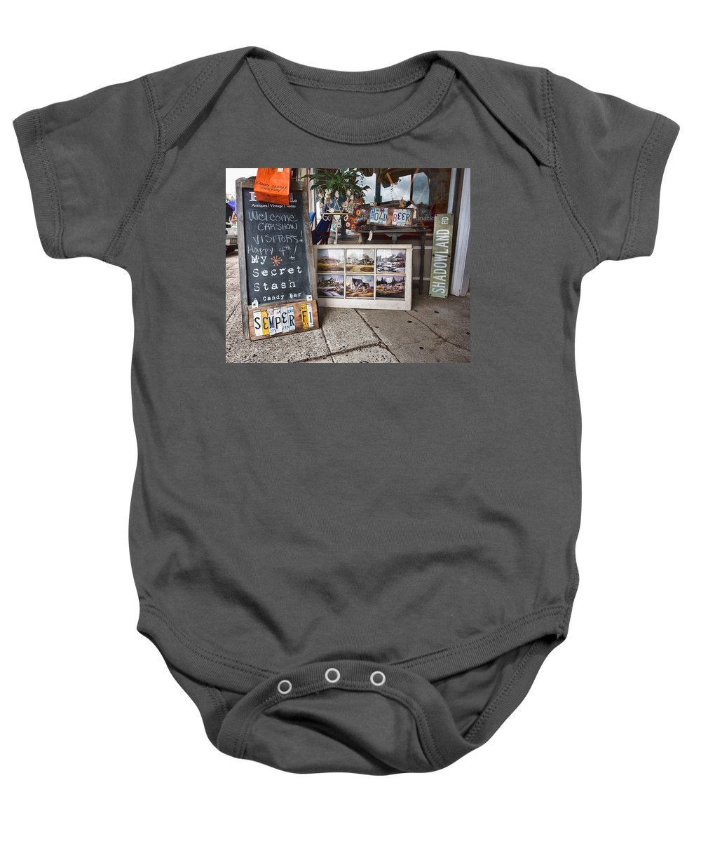 My Secret Stash Baby Onesie featuring the photograph My Secret Stash by Cindy Archbell