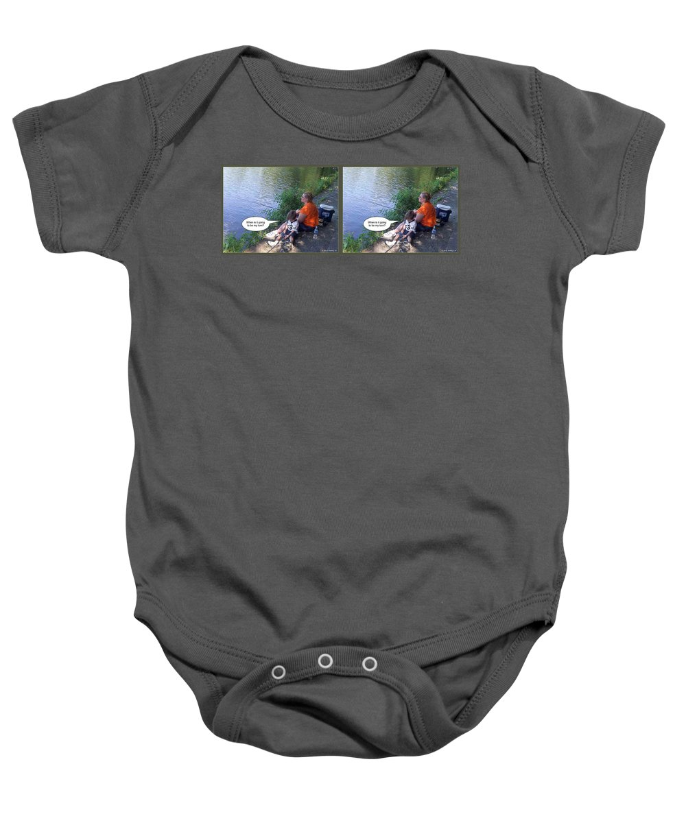 3d Baby Onesie featuring the photograph My Turn - Gently Cross Your Eyes And Focus On The Middle Image by Brian Wallace