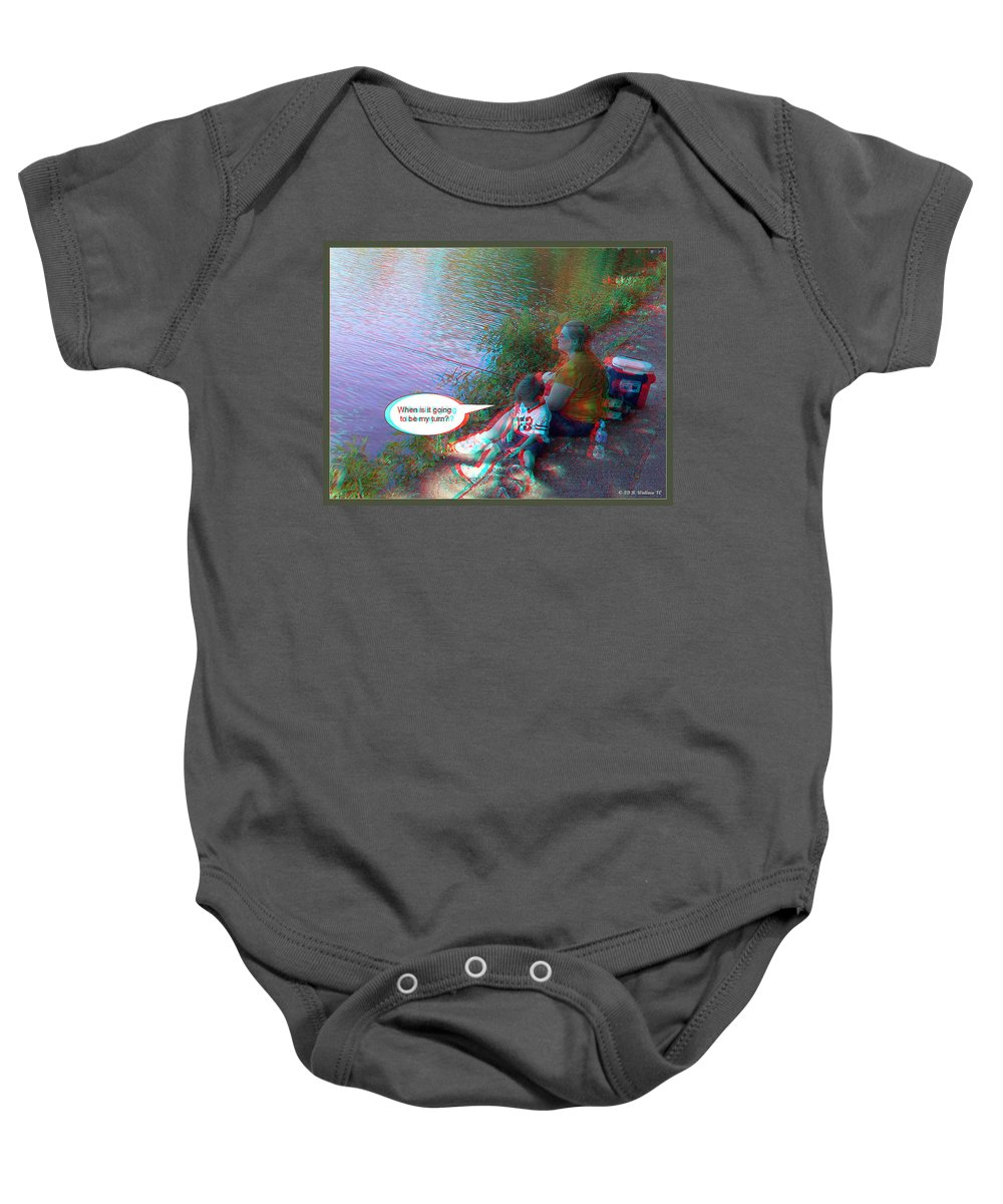 3d Baby Onesie featuring the photograph My Turn by Brian Wallace