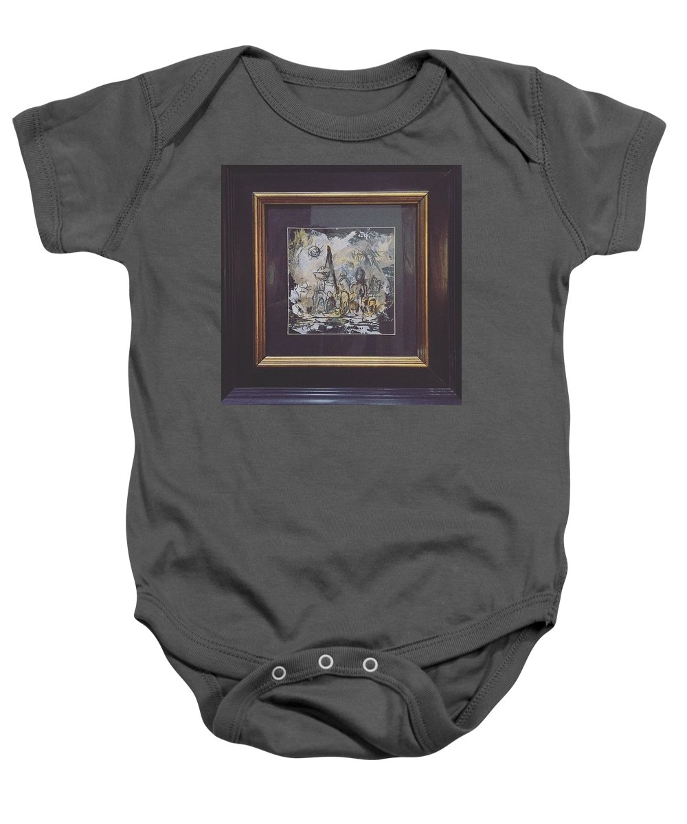 Arabic Art Baby Onesie featuring the drawing Mydrawings by Arwa Alhila