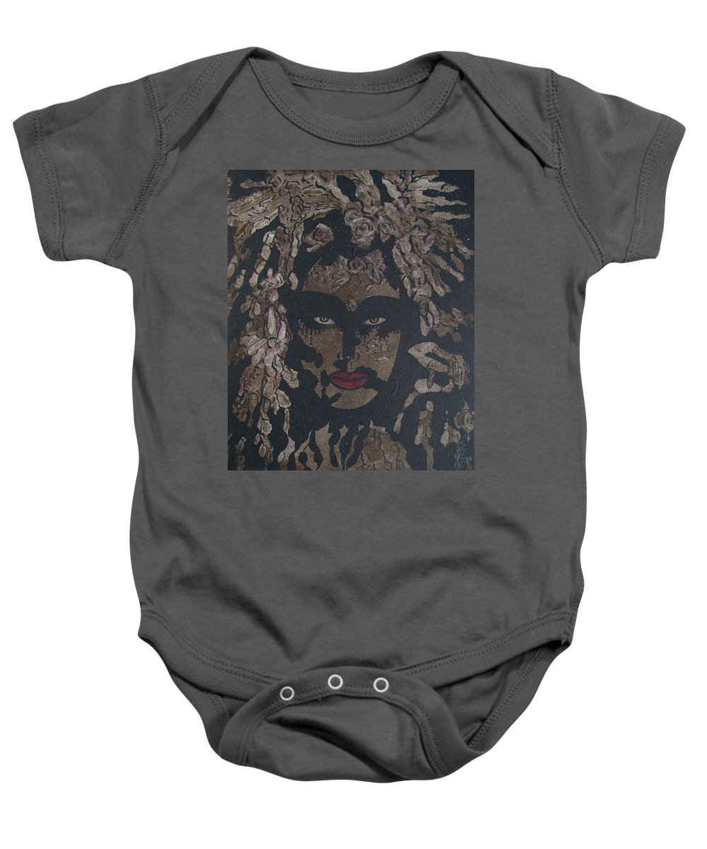 Figurative Baby Onesie featuring the painting Mysterious Desire by Natalie Holland