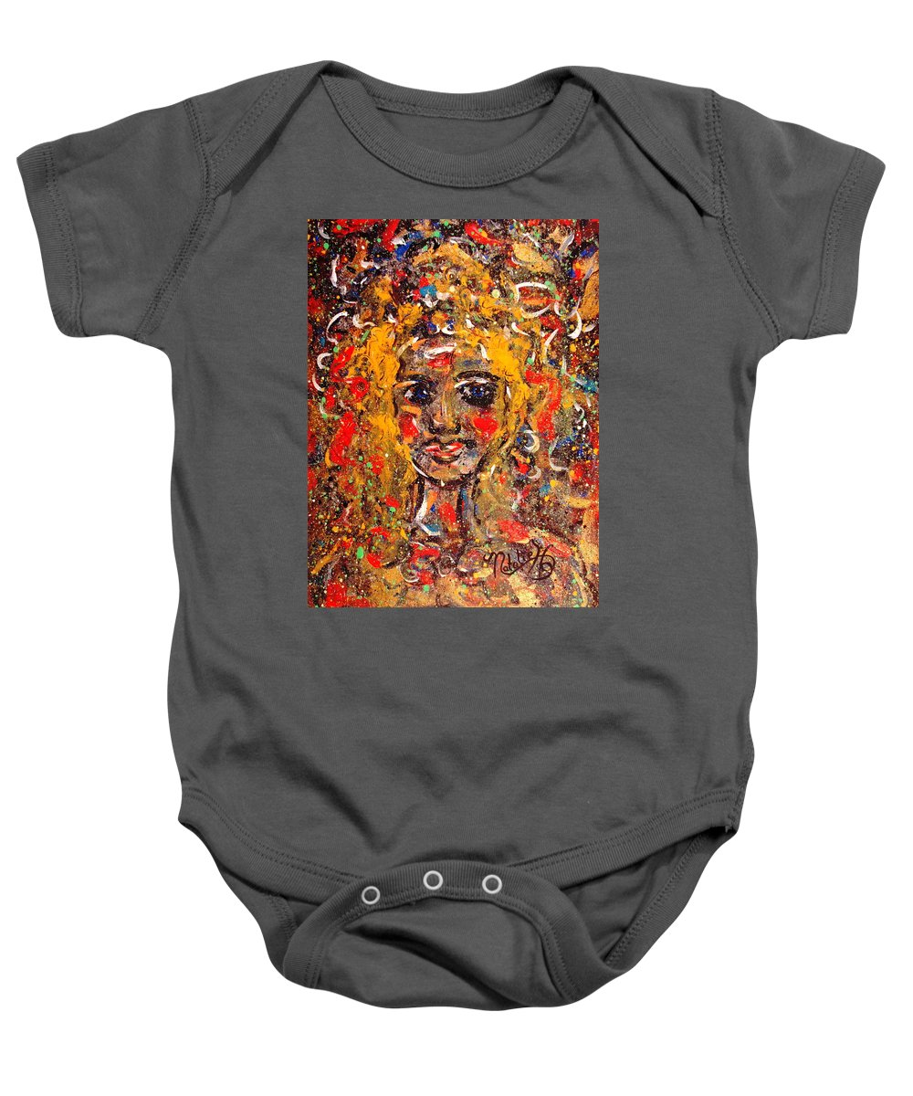 Impressionism Baby Onesie featuring the painting Mysterious Eyes by Natalie Holland