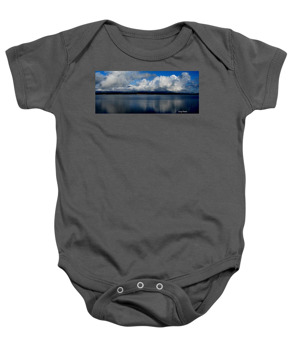 Patzer Baby Onesie featuring the photograph Mystic by Greg Patzer
