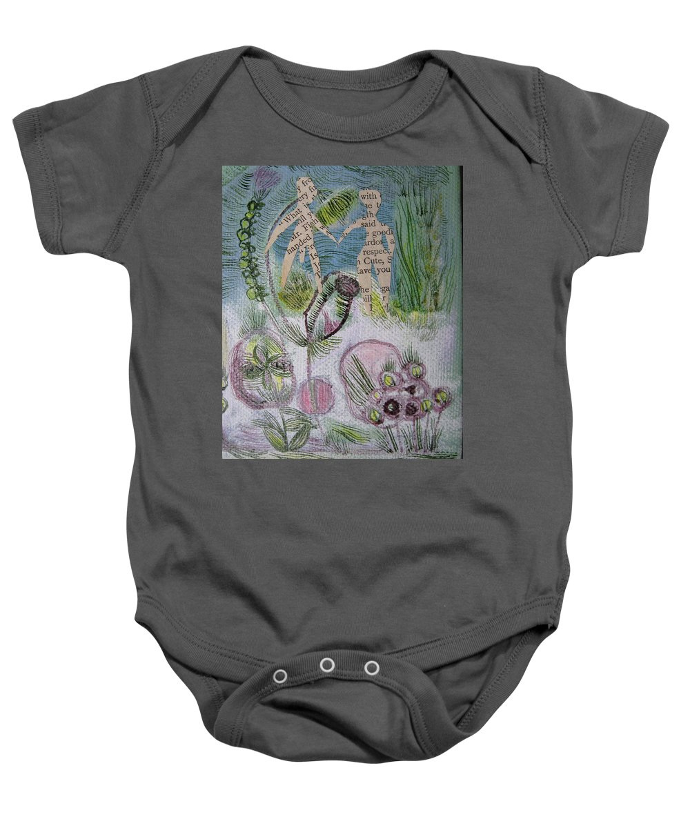 Garden Baby Onesie featuring the painting Naked Garden I by Sue Wright