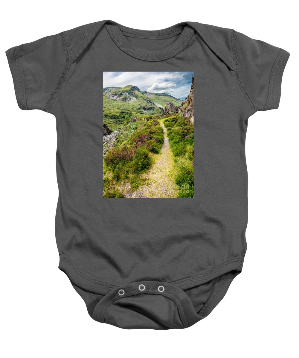 Countryside Baby Onesie featuring the photograph Nant Ffrancon Footpath by Adrian Evans
