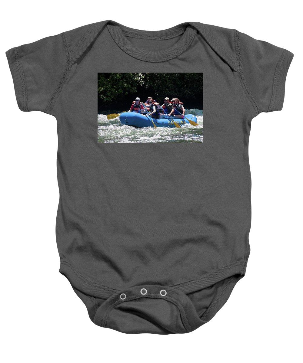 North Carolina Baby Onesie featuring the photograph Nantahala River Rafting by Frank Tozier