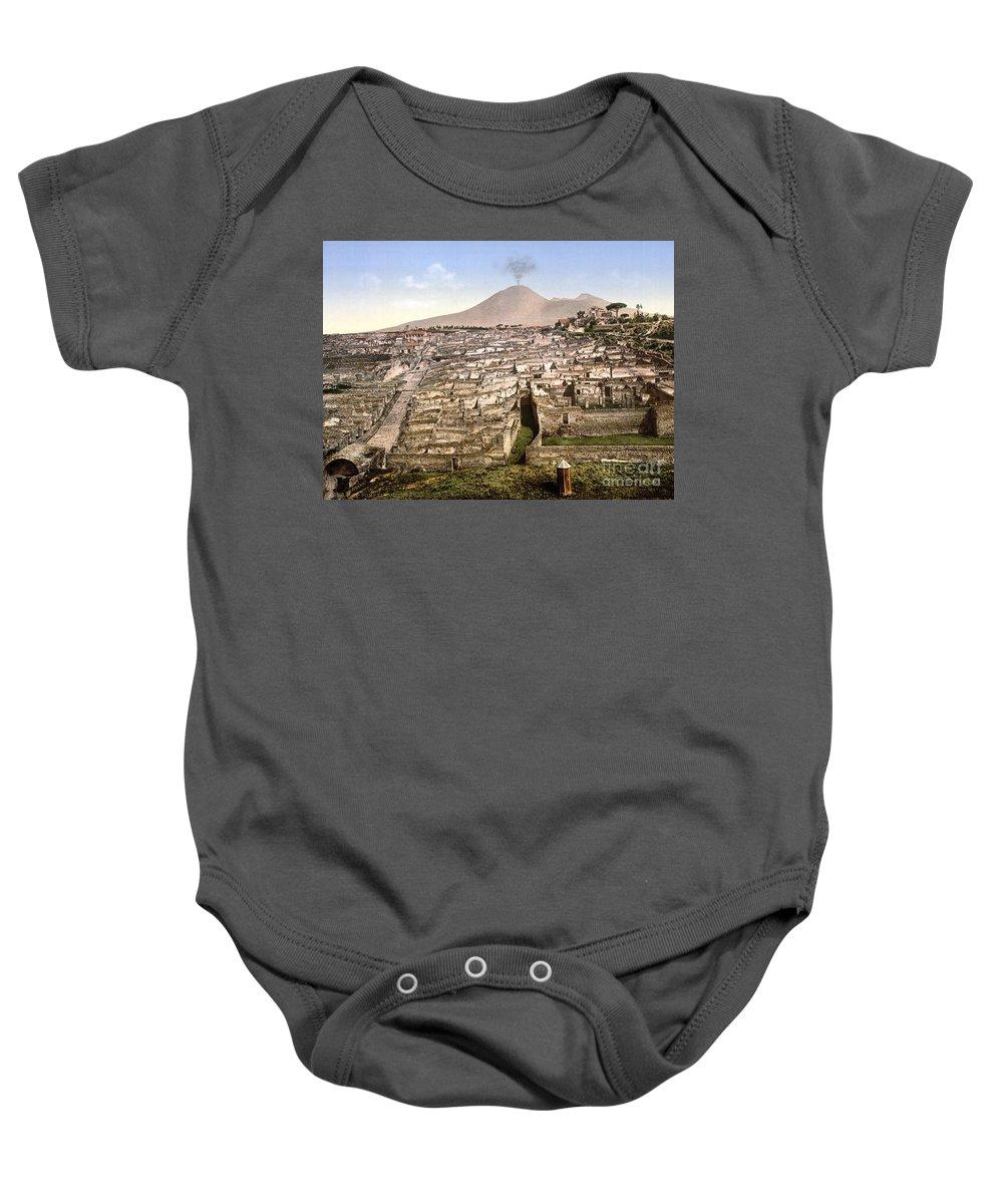 1890 Baby Onesie featuring the photograph Naples: Mt. Vesuvius by Granger