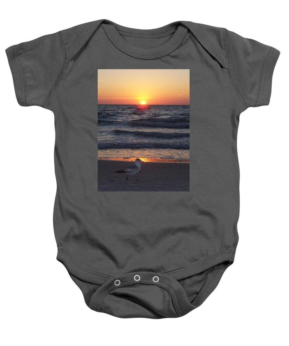 Naples Baby Onesie featuring the photograph Naples Sunset 0042 by Laurie Paci