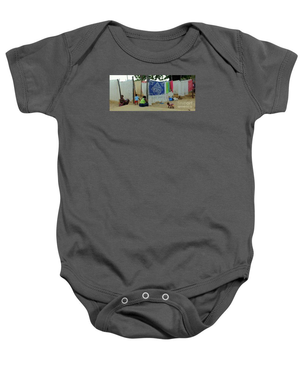 Native Baby Onesie featuring the photograph Native Linen For Sale by John Potts