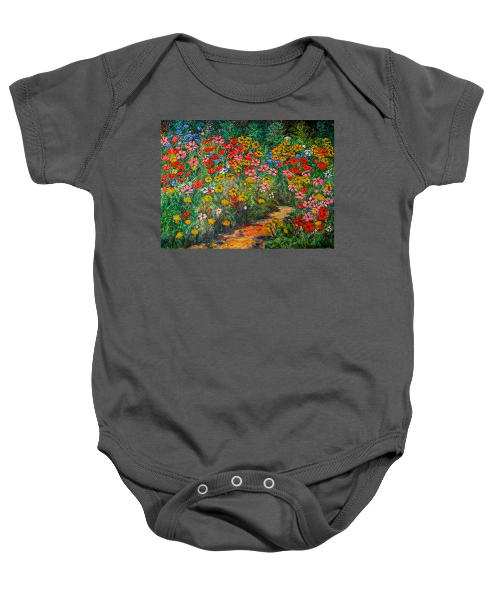 Wildflowers Baby Onesie featuring the painting Natural Rhythm by Kendall Kessler