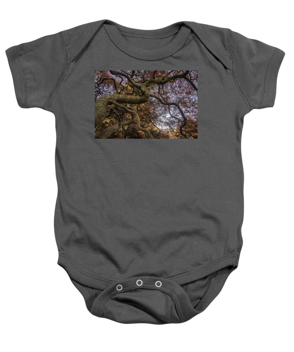 New Jersey Baby Onesie featuring the photograph Nature Tangle by Kristopher Schoenleber
