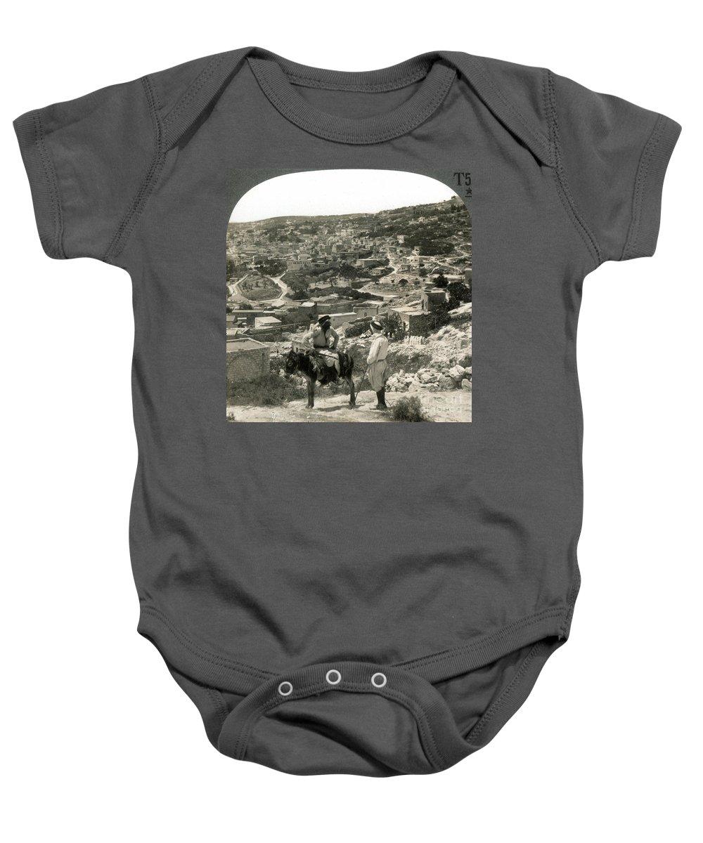 1920s Baby Onesie featuring the photograph Nazareth, Palestine, C1920 by Granger