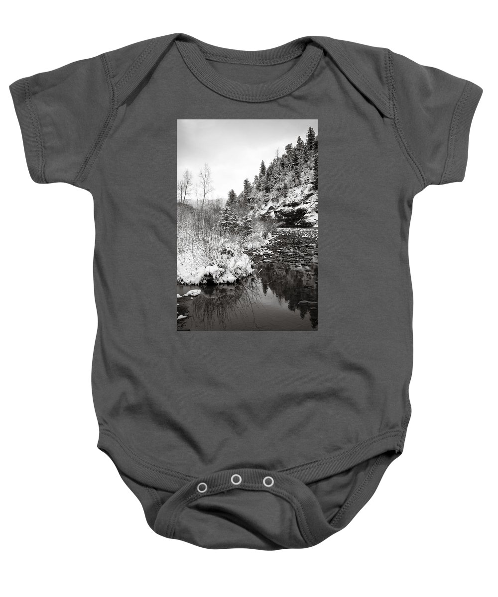 Winter Baby Onesie featuring the photograph Near Telluride Colorado by Marilyn Hunt