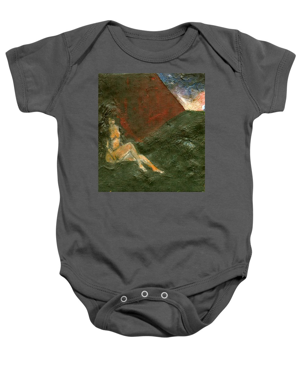 Colour Baby Onesie featuring the painting Near Wall I by Wojtek Kowalski