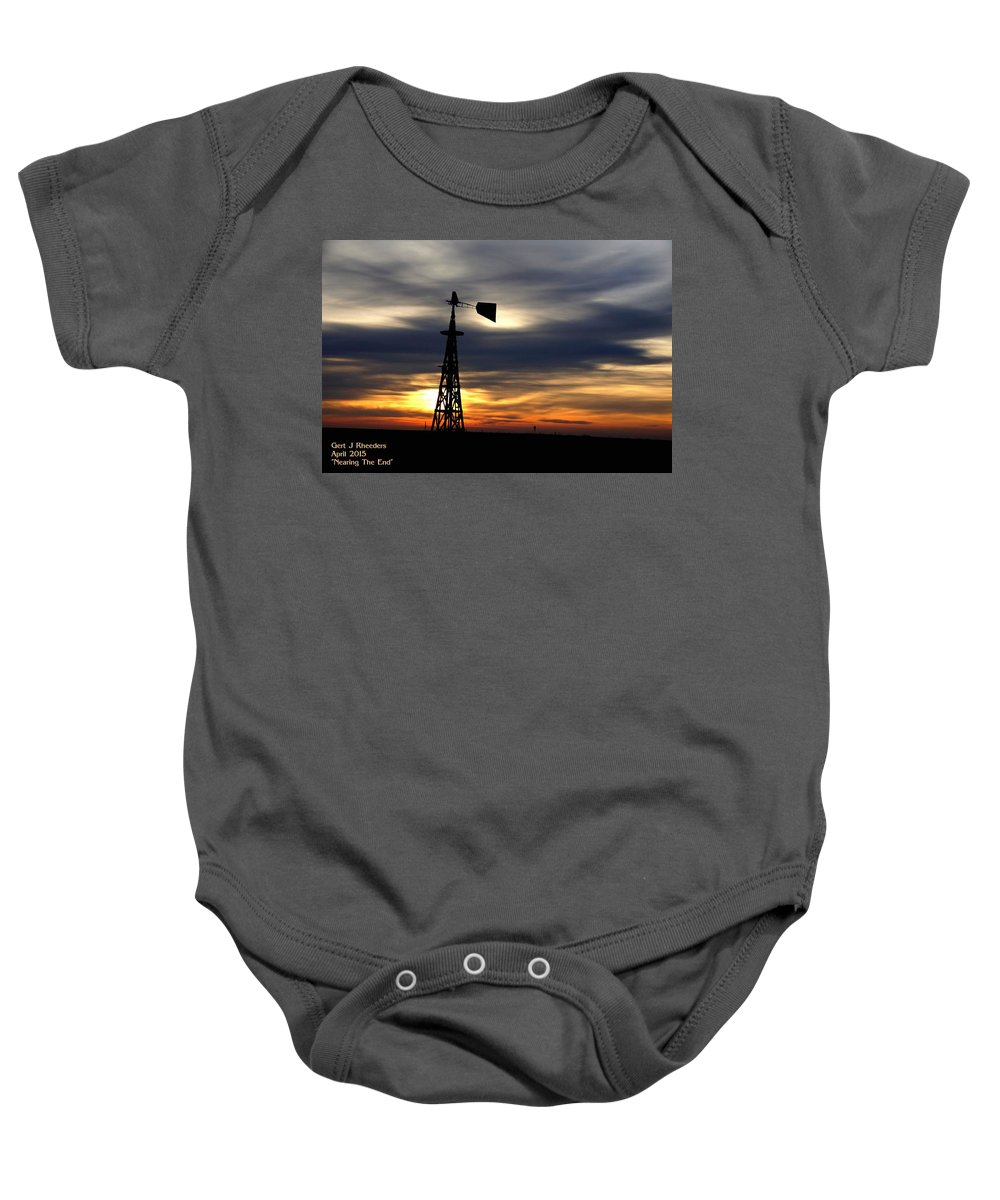 Announcement Baby Onesie featuring the painting Nearing The End H A by Gert J Rheeders