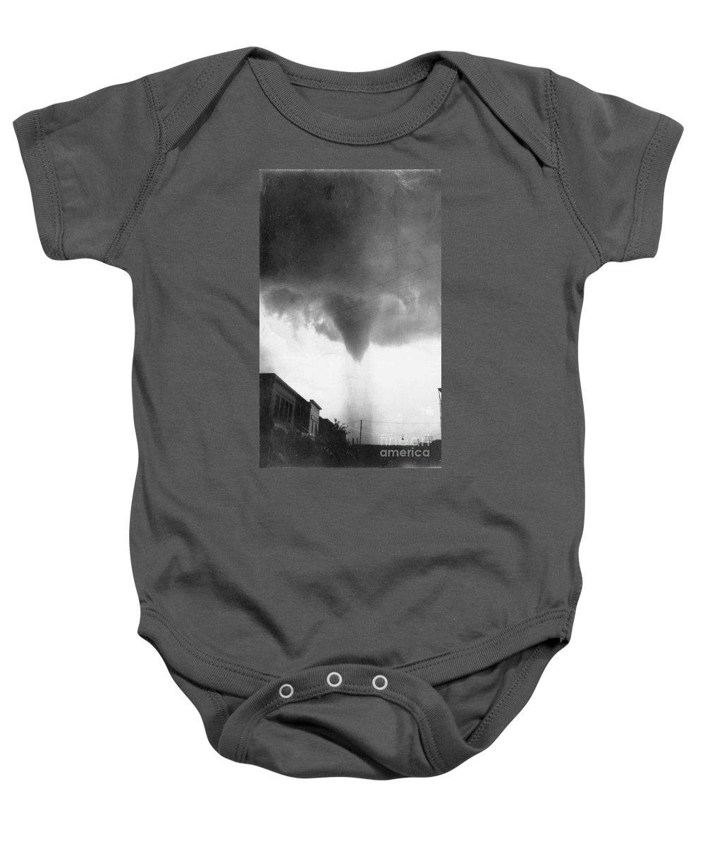 1911 Baby Onesie featuring the photograph Nebraska: Tornado, 1911 by Granger