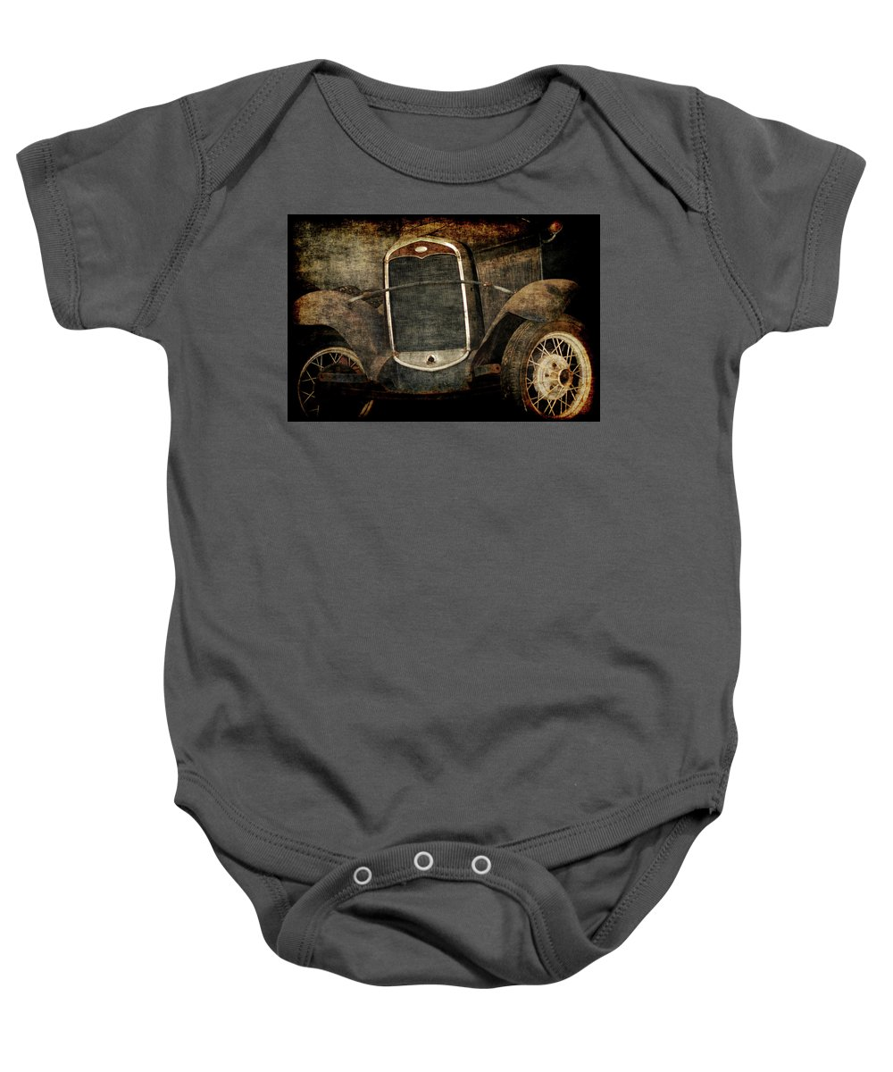 Old Fords Baby Onesie featuring the photograph Needs Help by Ernie Echols