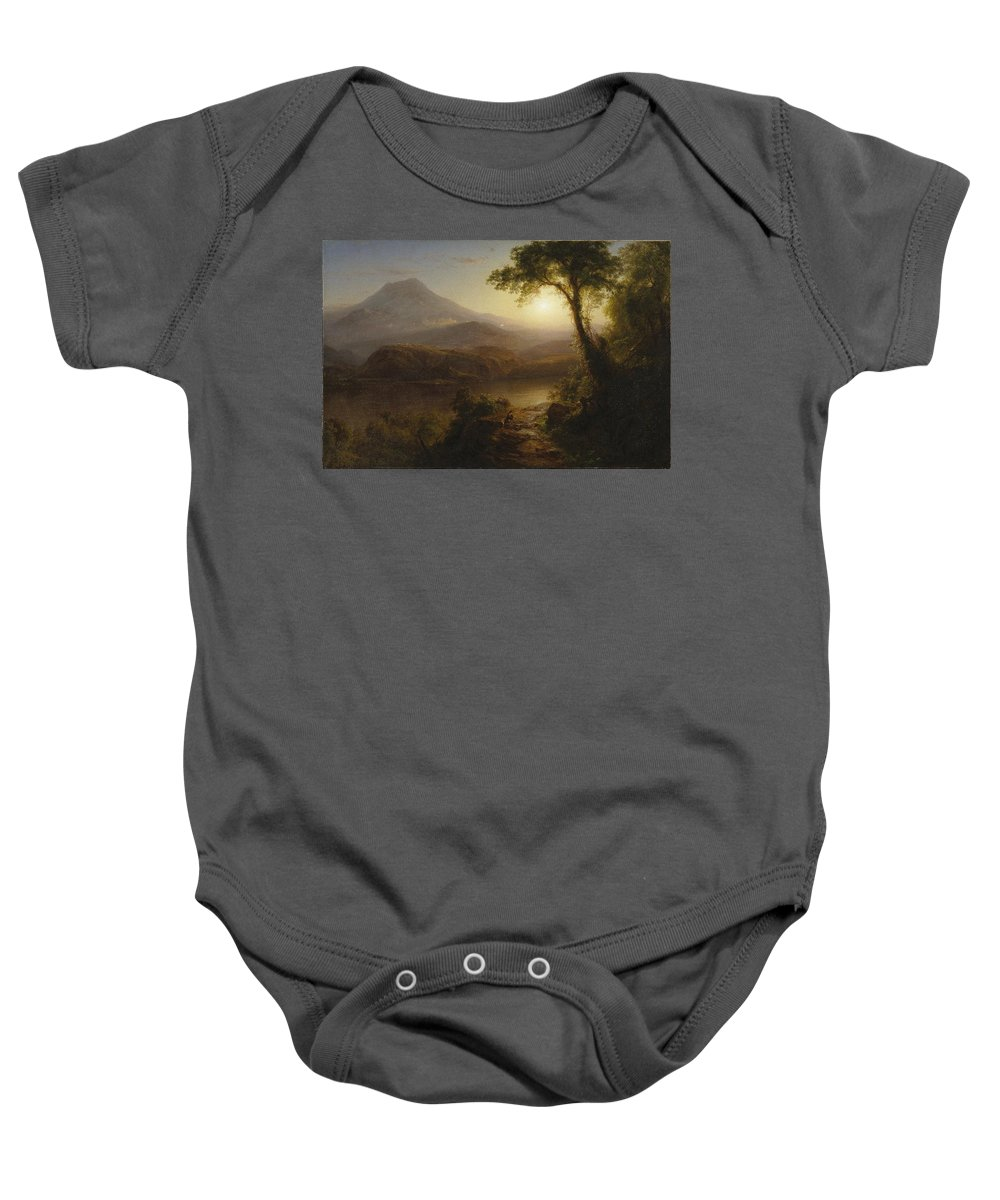 Attributed To Nehemiah Partridge (american Baby Onesie featuring the painting Nehemiah Partridge by MotionAge Designs