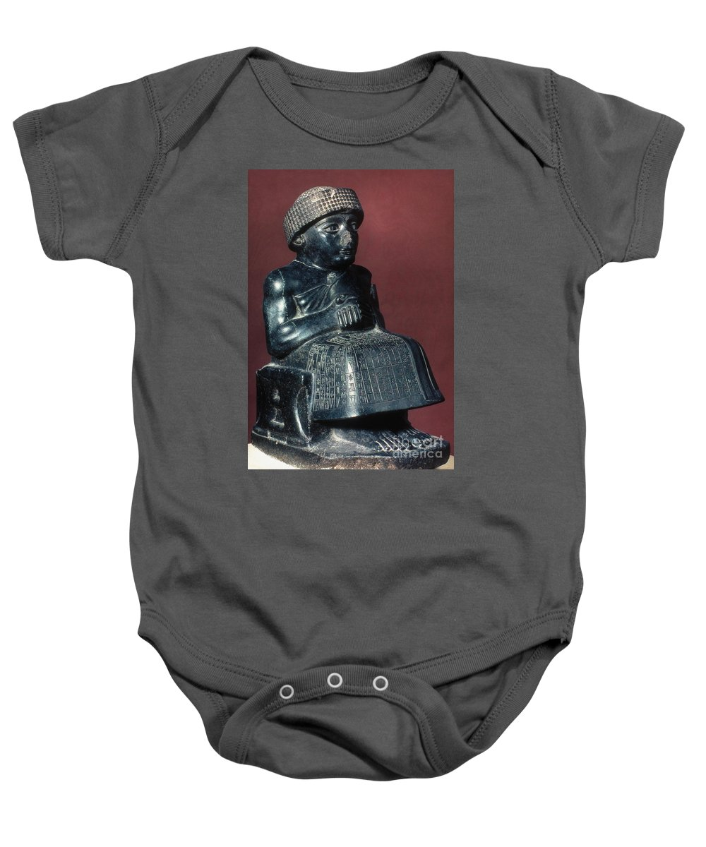 2150 B.c. Baby Onesie featuring the photograph Neo-sumerian Prince Gudea by Granger