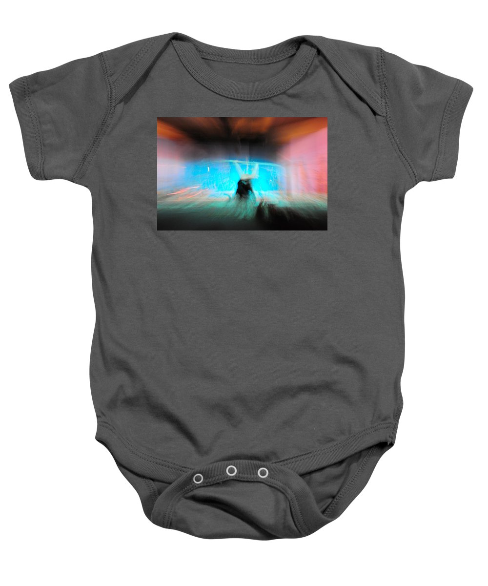 Long Exposure Baby Onesie featuring the photograph Neon Stick by Scott Sawyer