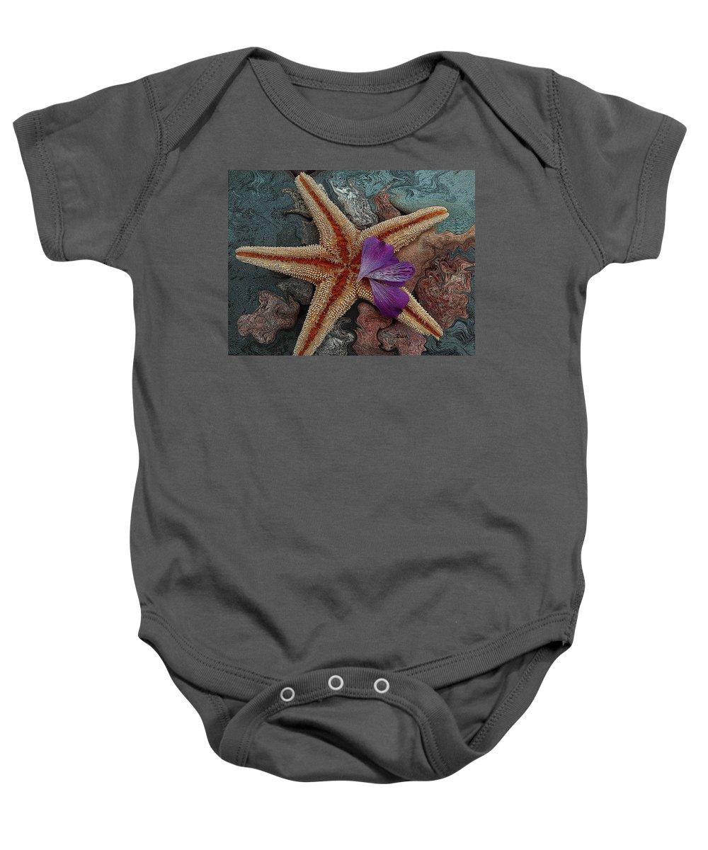 Starfish Baby Onesie featuring the painting Never Forgotten- Starfish Art by Kathy Symonds