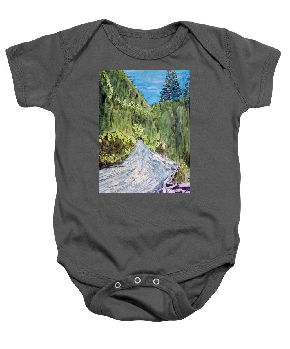 New Mexico Art Baby Onesie featuring the painting New Mexico Canyon Impression by Larry Wright