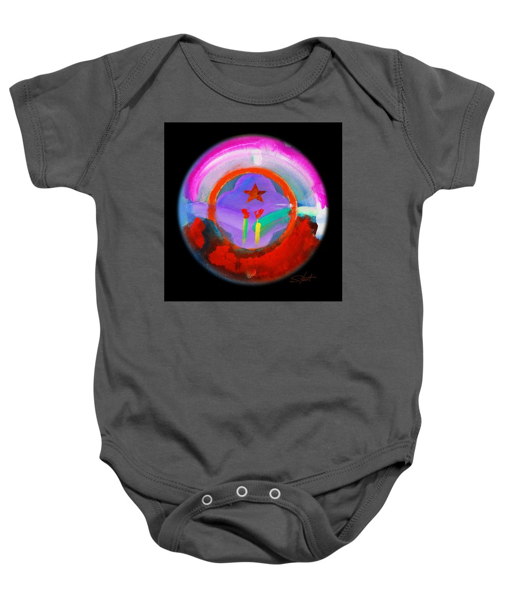 Spring Baby Onesie featuring the painting New Morning by Charles Stuart