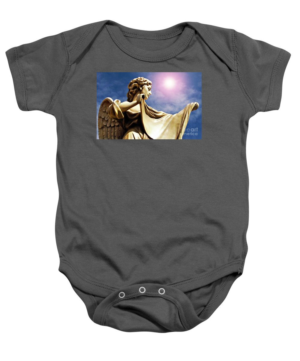 Angel Baby Onesie featuring the photograph New Orleans Angel by Kathleen K Parker