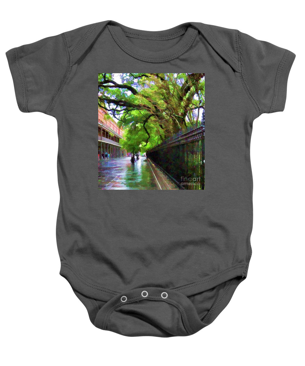 French Quarter Baby Onesie featuring the photograph New Orleans French Quarter Paint by Chuck Kuhn