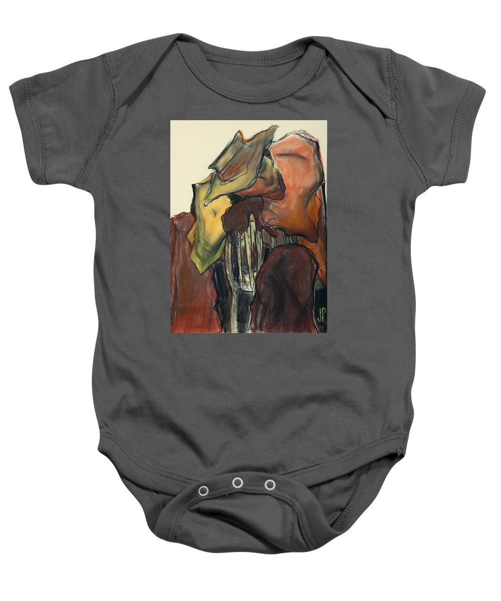 New Orleans Baby Onesie featuring the pastel New Orleans by Jeff Lethcoe