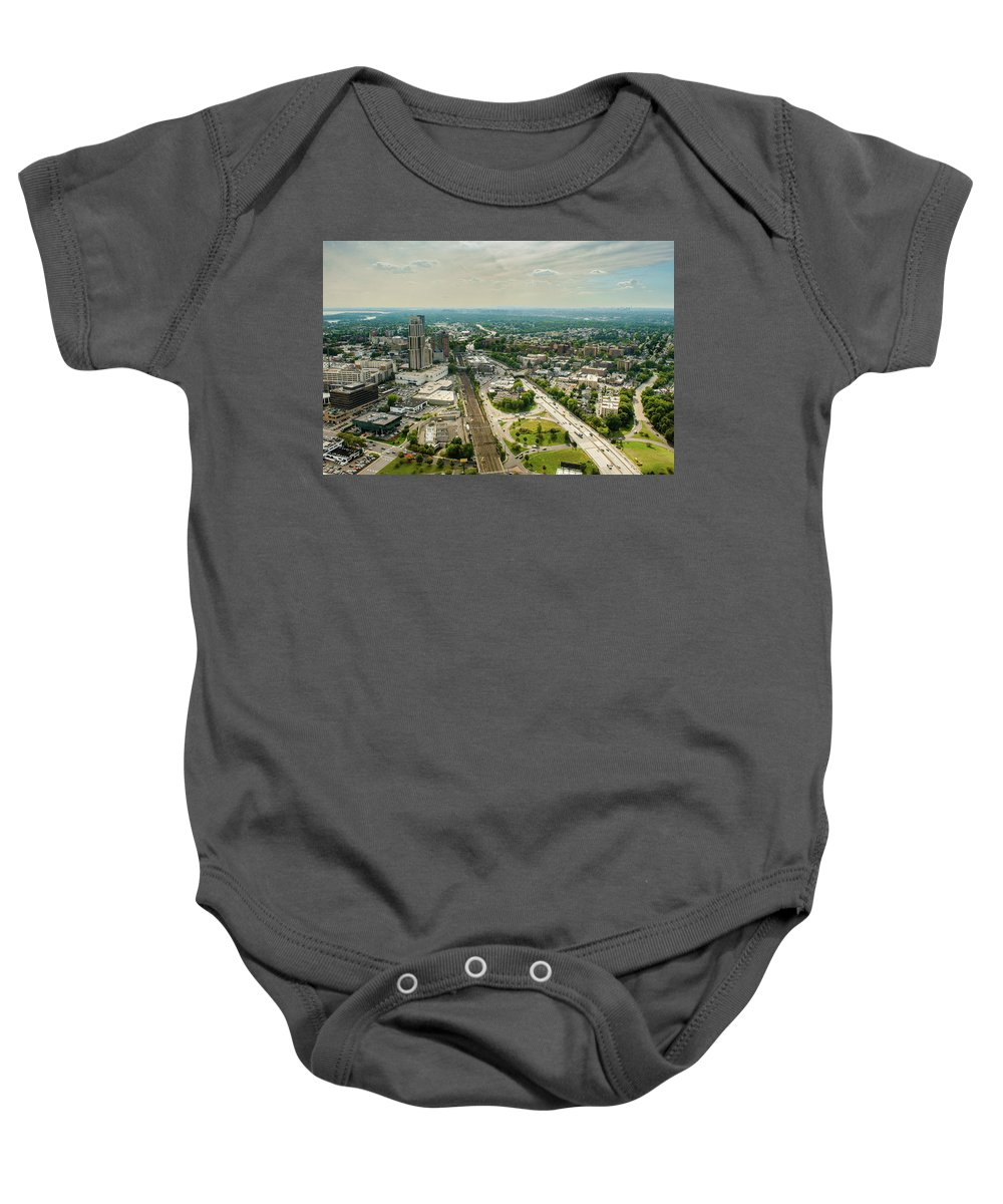 New Rochelle Baby Onesie featuring the photograph New Rochelle 3 by Louis Vaccaro