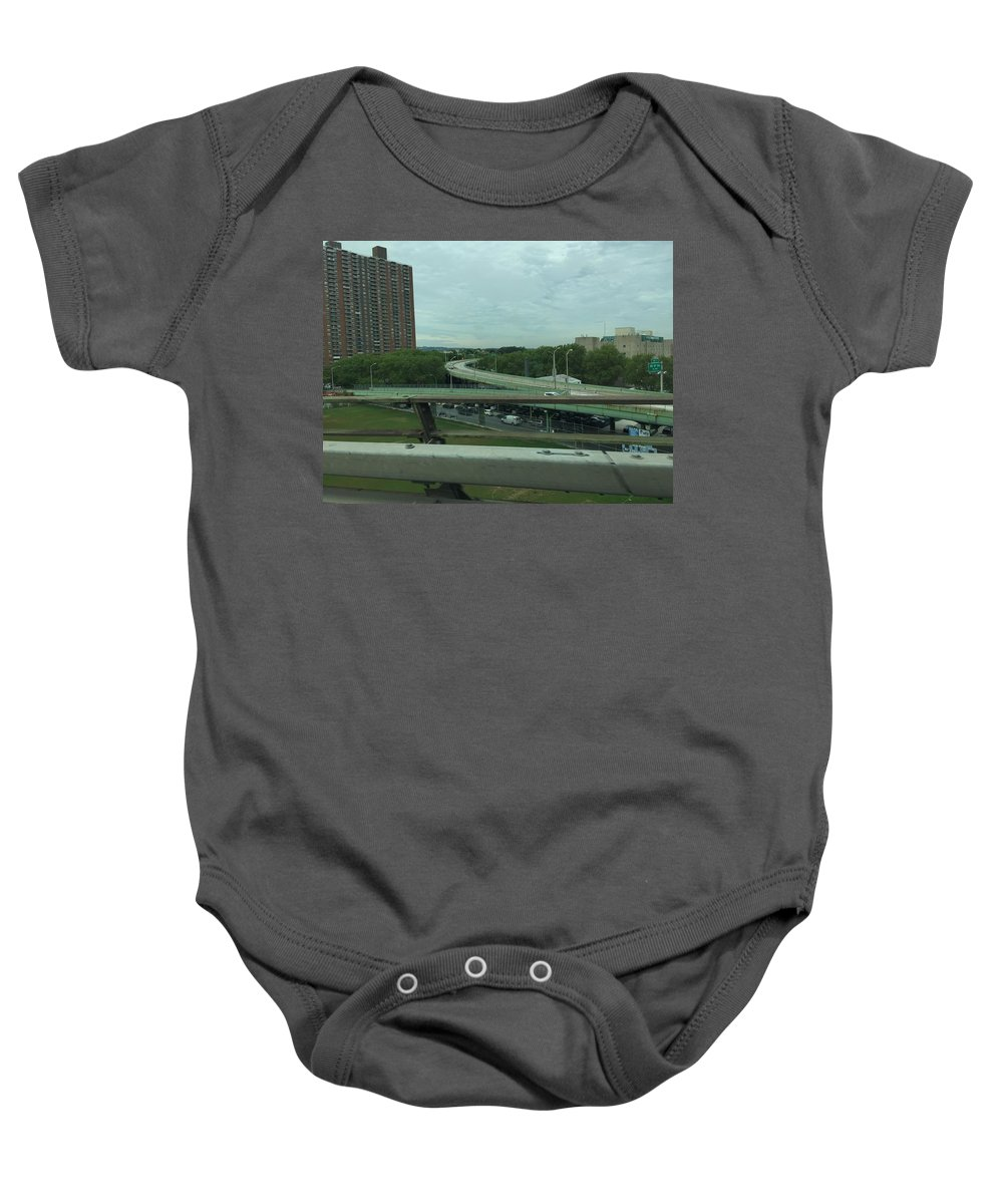 Cities Baby Onesie featuring the photograph New York 3 by Sabina Trzebna