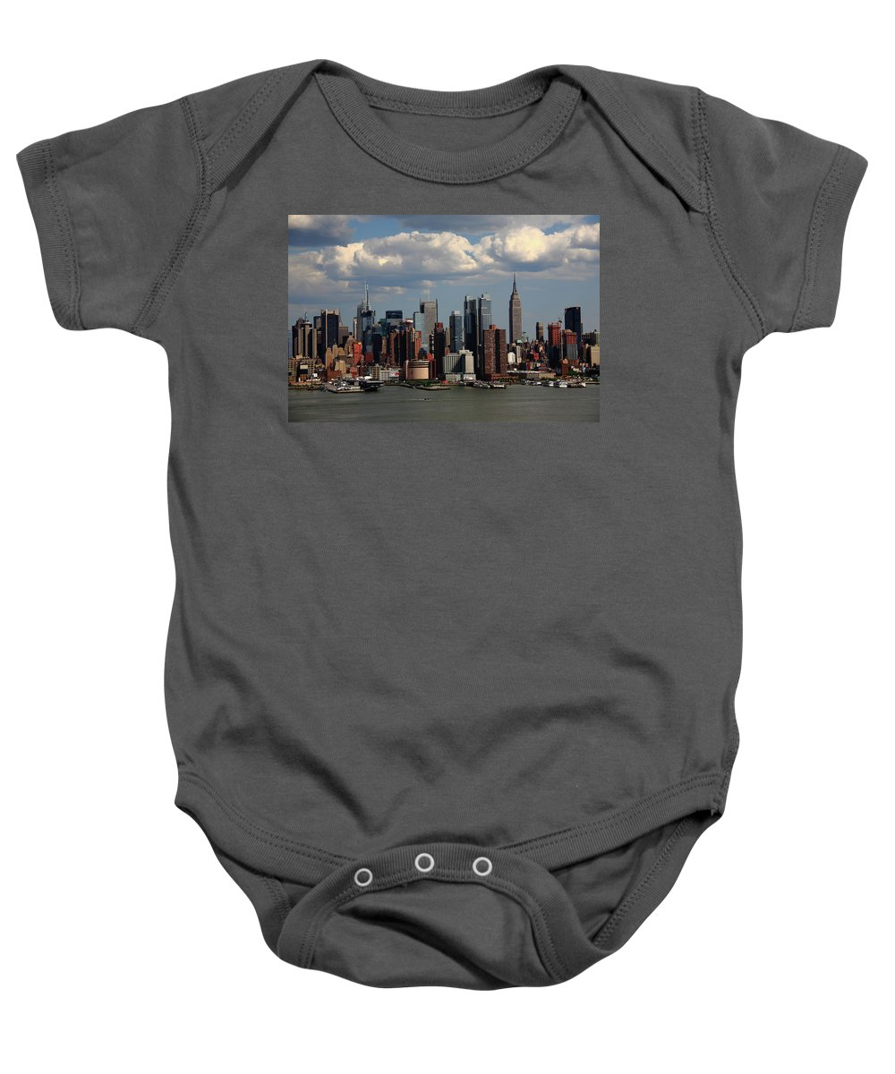America Baby Onesie featuring the photograph New York City Skyline 4 by Frank Romeo