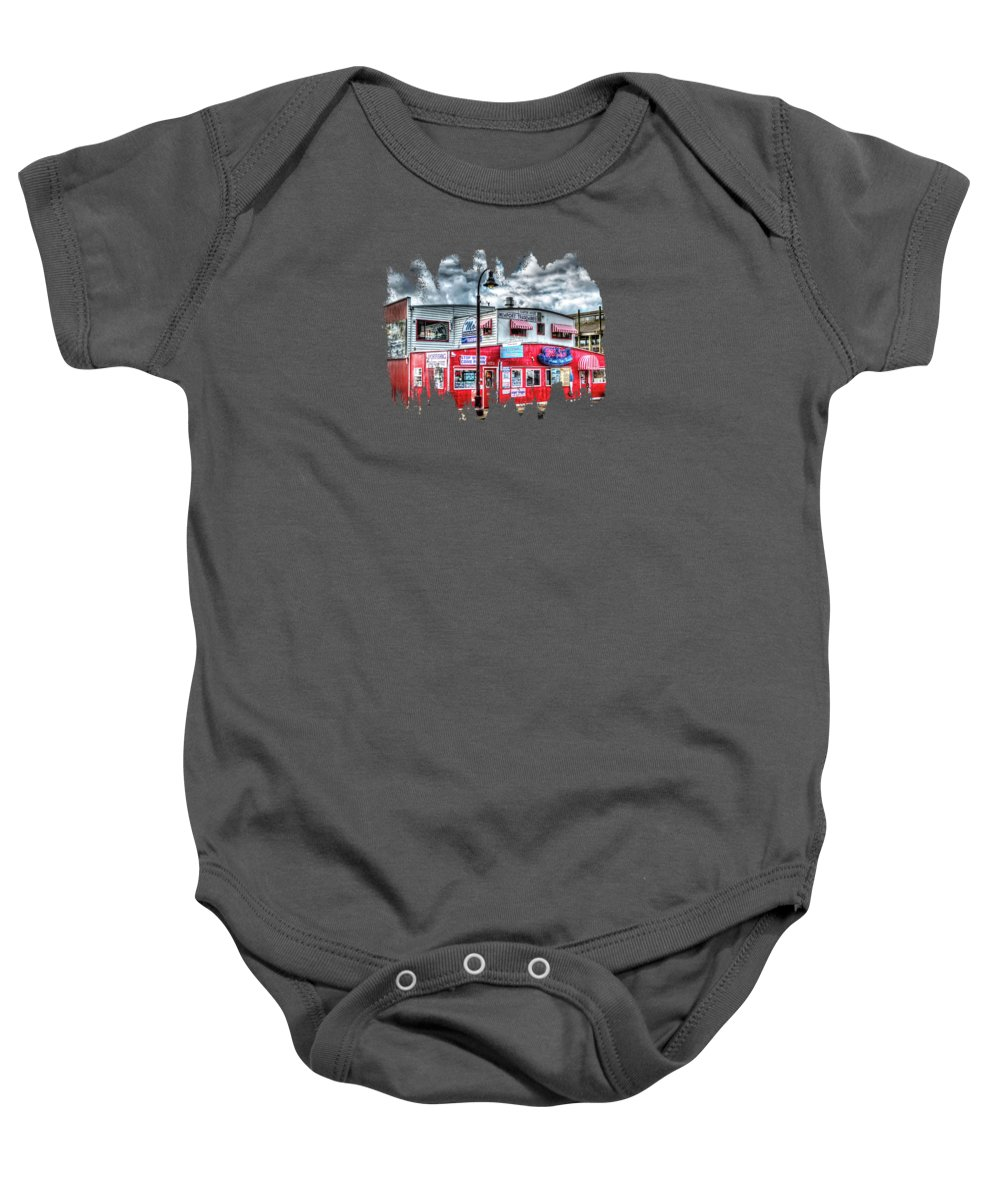 Newport Tradewinds Baby Onesie featuring the photograph Newport Tradewinds And Mo's by Thom Zehrfeld