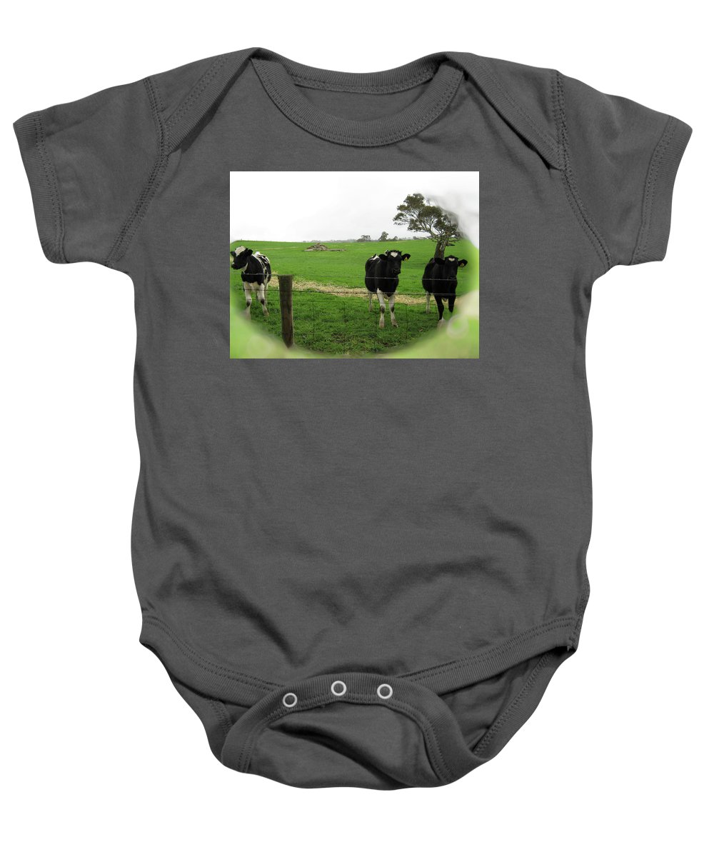 Cows Baby Onesie featuring the photograph N'gombe by Douglas Barnard