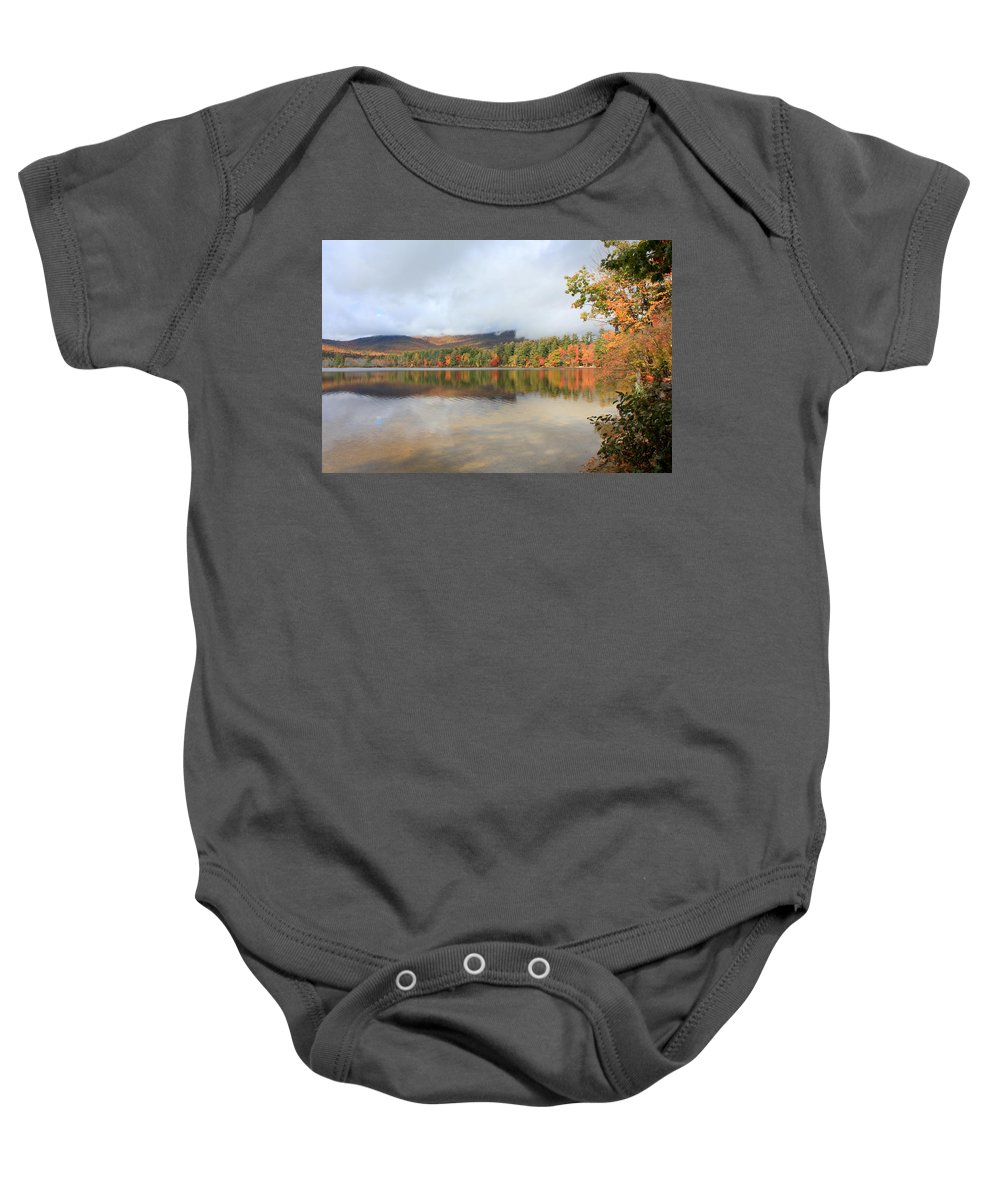 Lake Baby Onesie featuring the photograph Color On The Lake by Jane Merrit