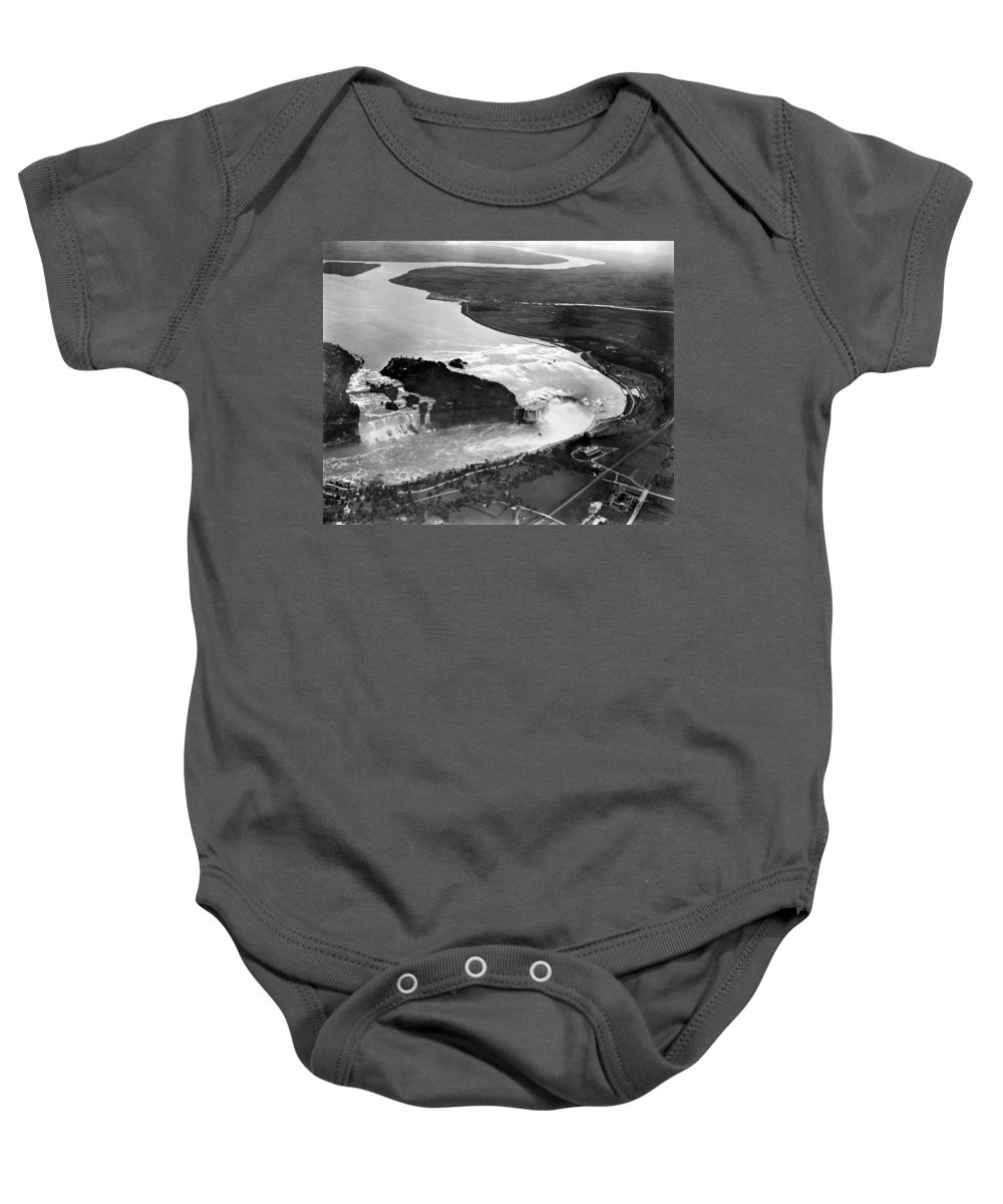 1922 Baby Onesie featuring the photograph Niagara Falls, C1922 by Granger