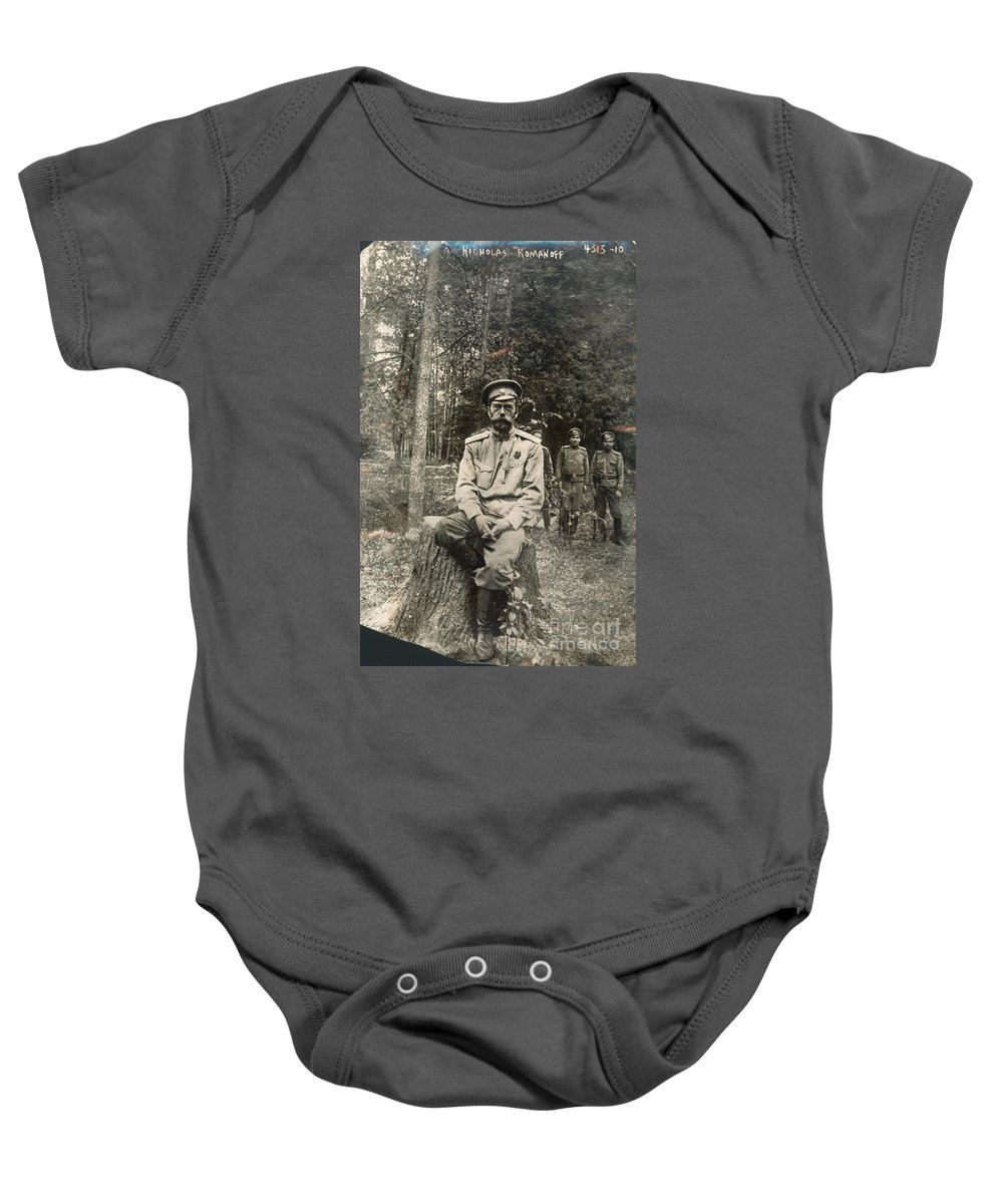 1917 Baby Onesie featuring the photograph Nicholas II (1868-1918) by Granger