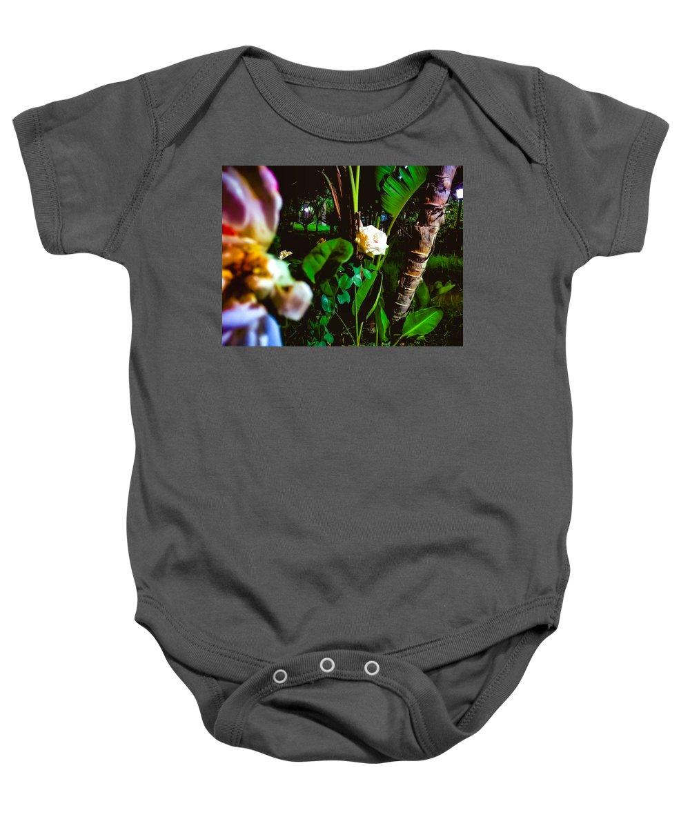Baby Onesie featuring the pyrography Night Time by Eliass Lavey