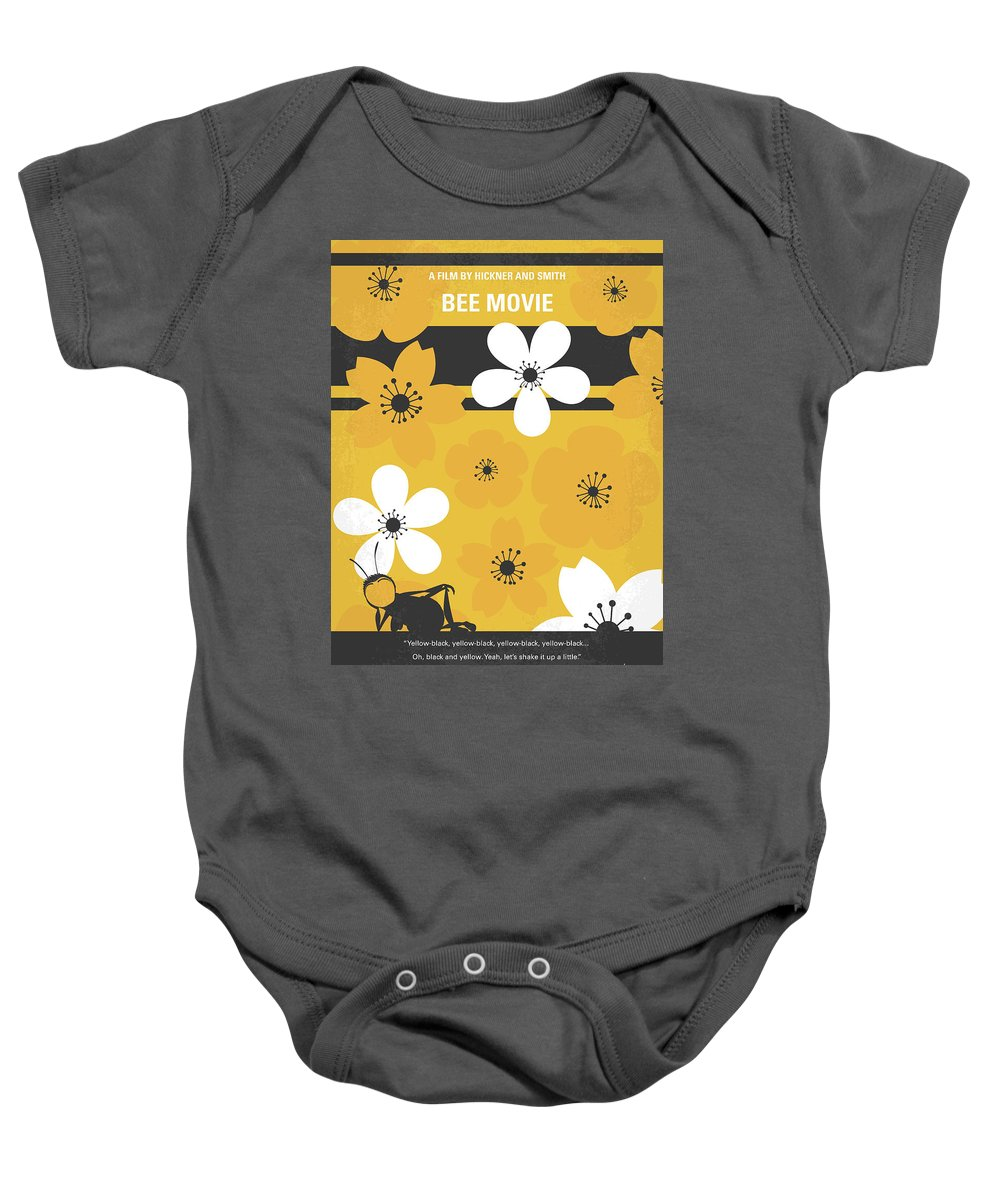 Bee Baby Onesie featuring the digital art No687 My Bee Movie Minimal Movie Poster by Chungkong Art