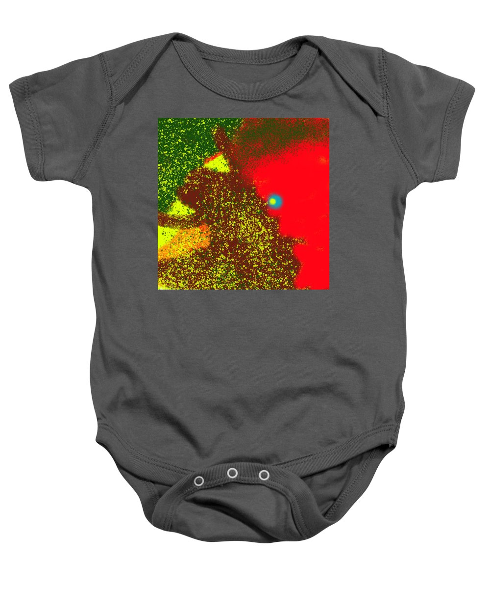 Tree Baby Onesie featuring the painting Nom Nom by Bill Minkowitz