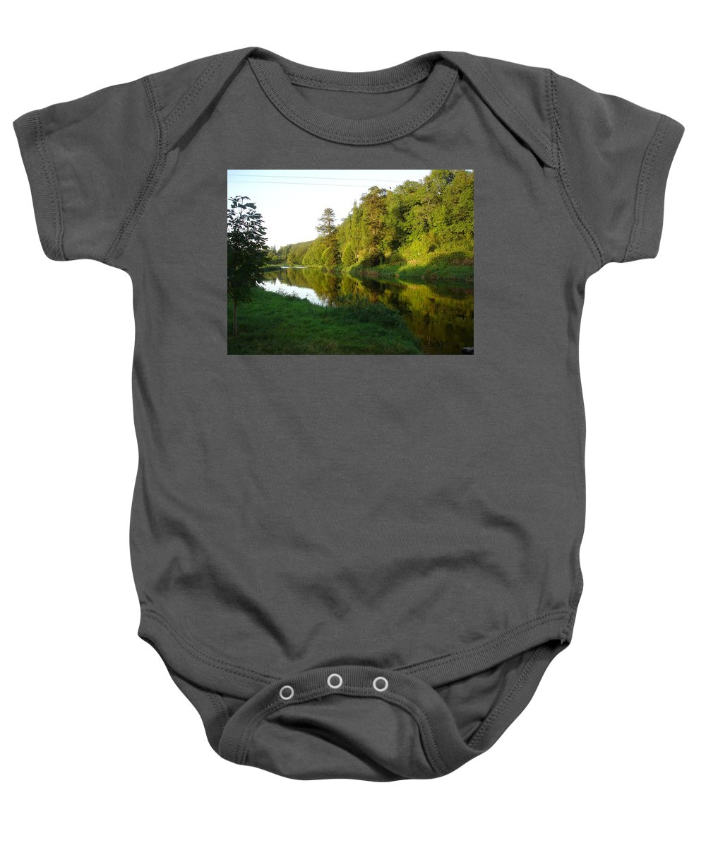 Nore Baby Onesie featuring the photograph Nore Reflections I by Kelly Mezzapelle