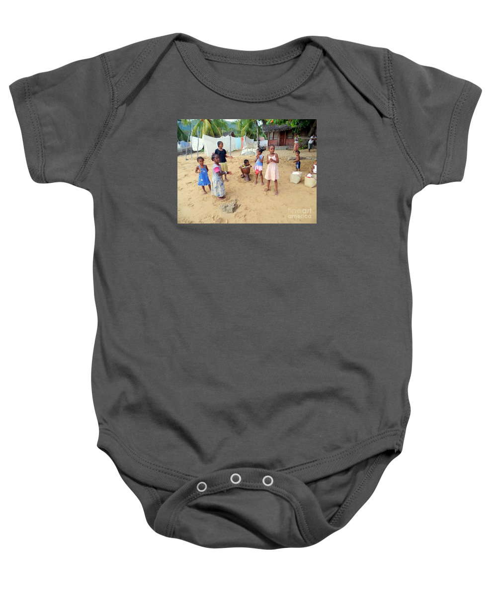Nosy Be Baby Onesie featuring the photograph Nosy Be Welome by John Potts