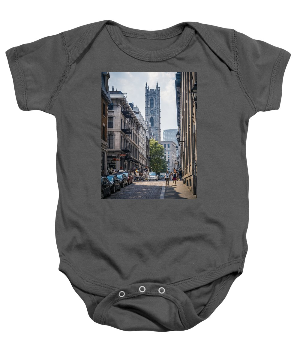Montreal Baby Onesie featuring the photograph Notre-dame De Montreal by Alexander Voss