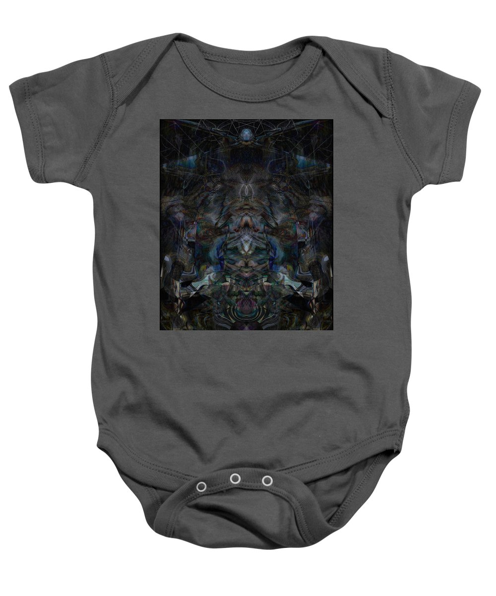 Deep Baby Onesie featuring the digital art Oa-5518 by Standa1one