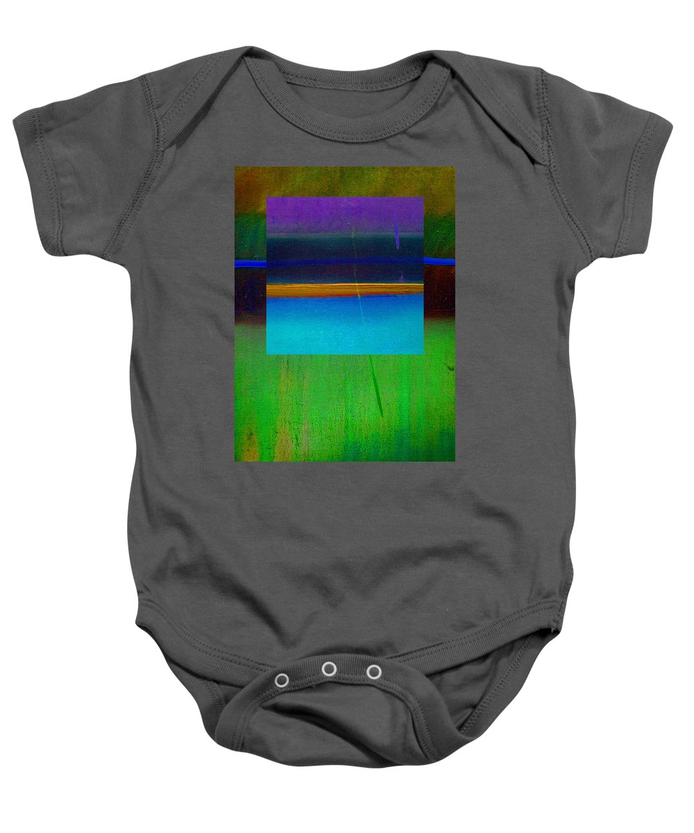 Landscape Baby Onesie featuring the painting Ocean Light by Charles Stuart