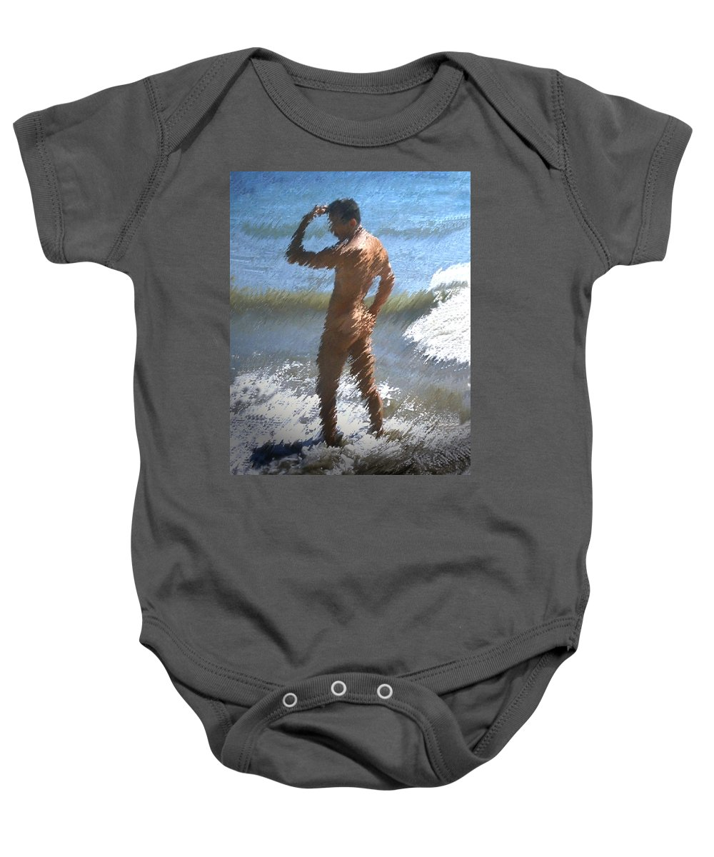 Nudes Baby Onesie featuring the photograph Ocean Thoughts by Kurt Van Wagner