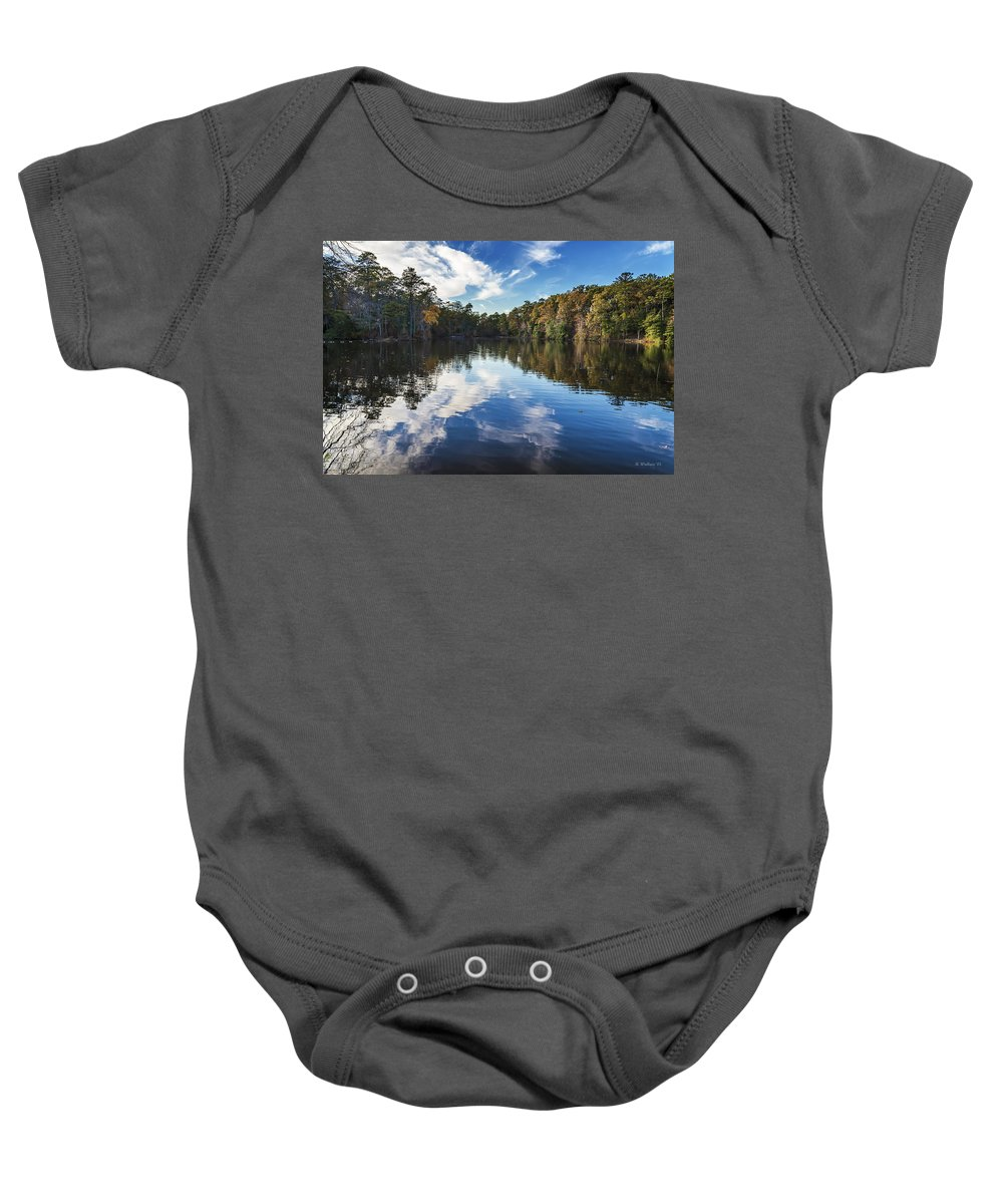 2d Baby Onesie featuring the photograph October Reflections by Brian Wallace
