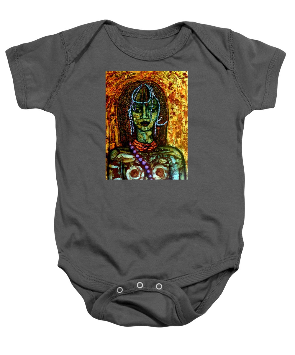 Memories Baby Onesie featuring the painting Of Another Childhood I Keep Memories by Madalena Lobao-Tello
